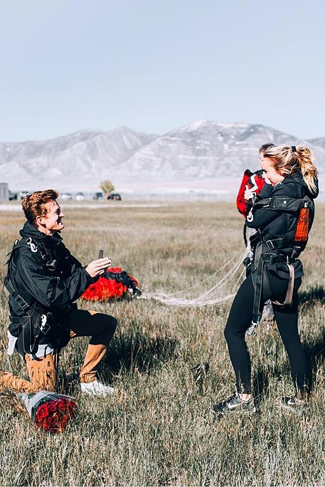 wedding proposal extreme proposal couple