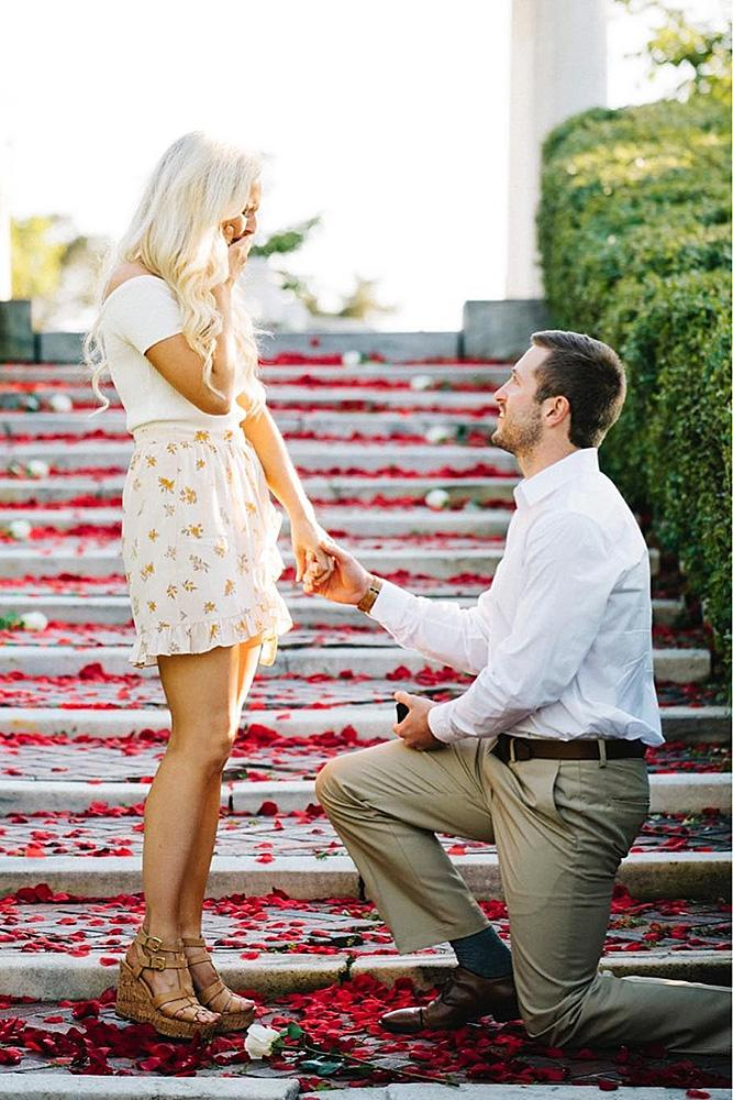 wedding proposal nice couple romantic propose