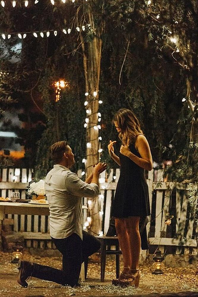 wedding proposal romantic engage at the nightlights