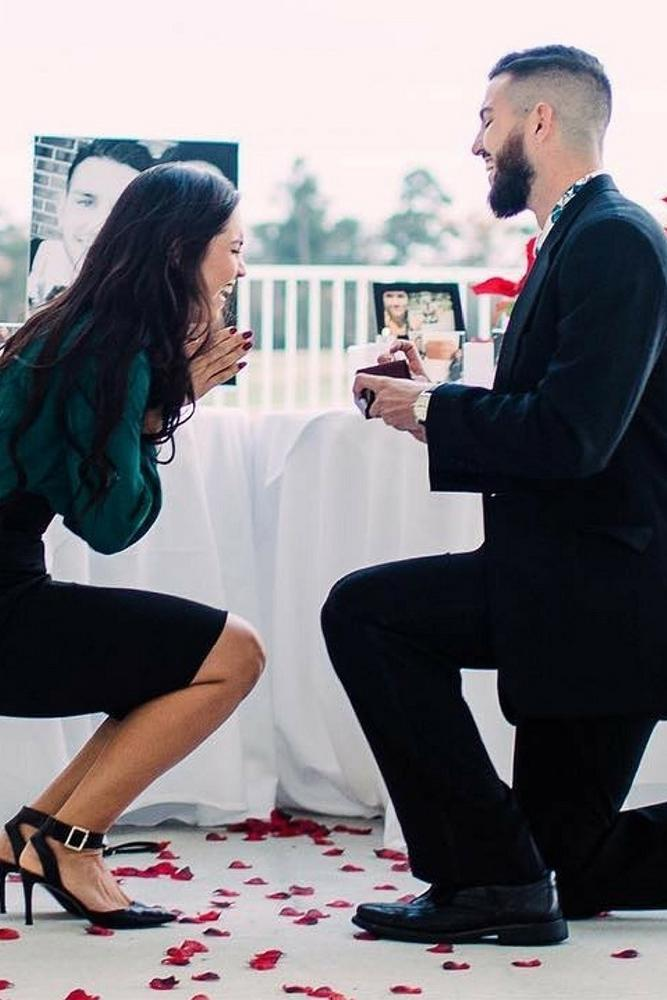 wedding proposal sincere emotions on date she was surprised