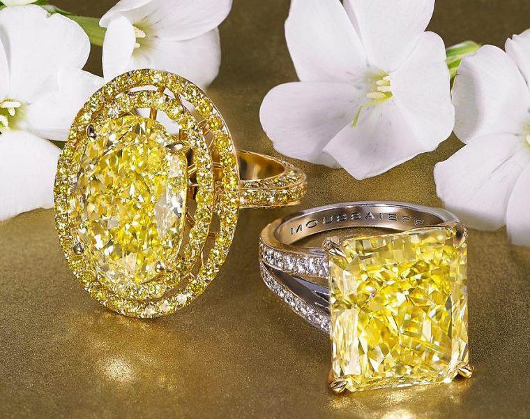 yellow diamond engagement rings gold oval princess cut