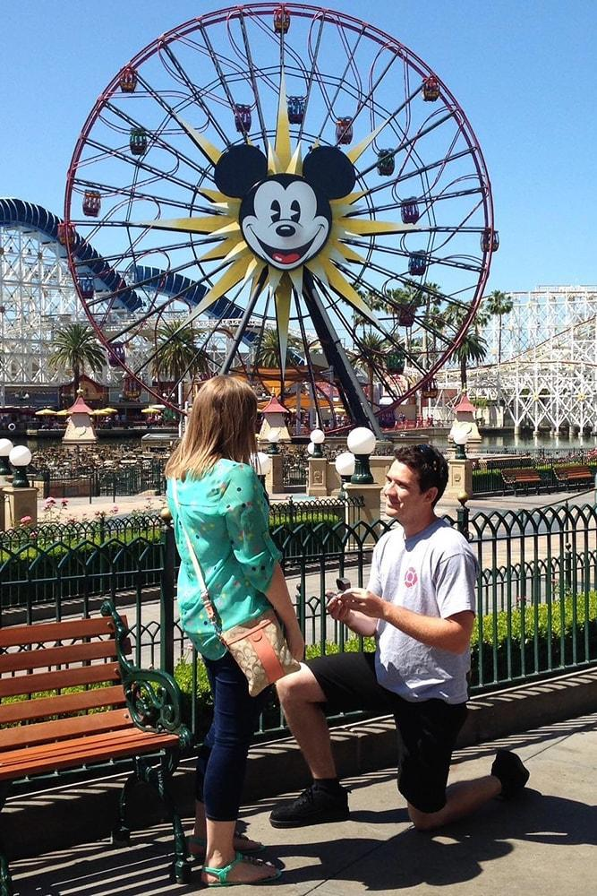 best proposals amazing proposal in luna park ferris wheel disneyland