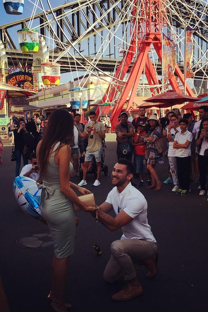 best proposals amazing proposal in luna park ferris wheel she said yes