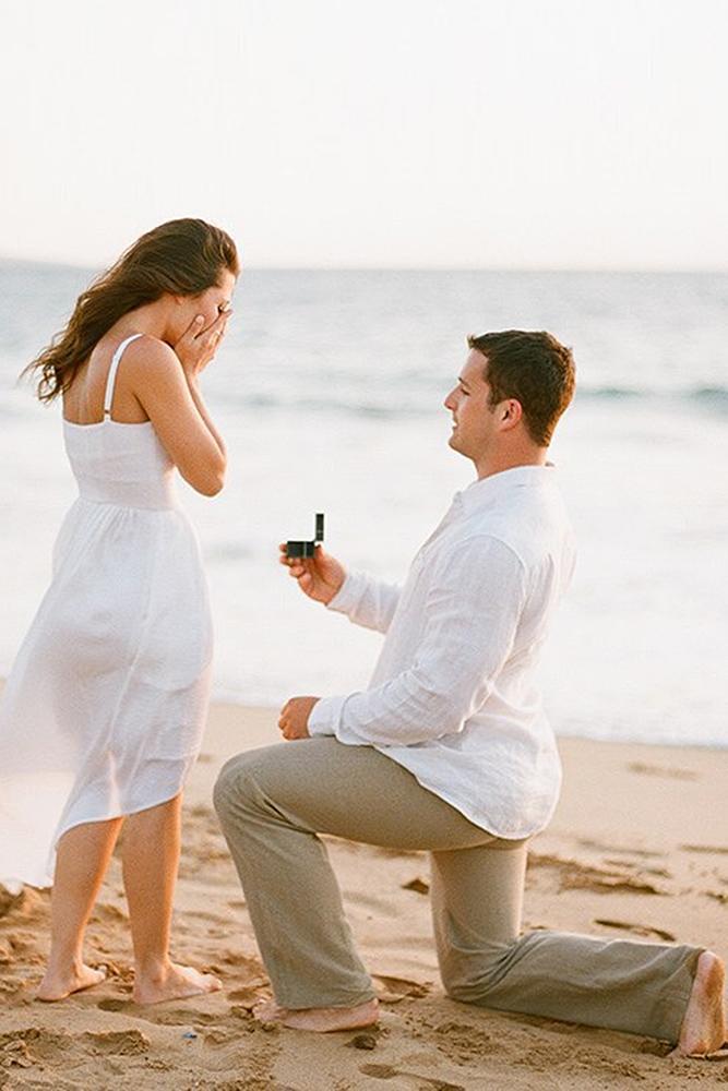 best proposals beach romantic love couple