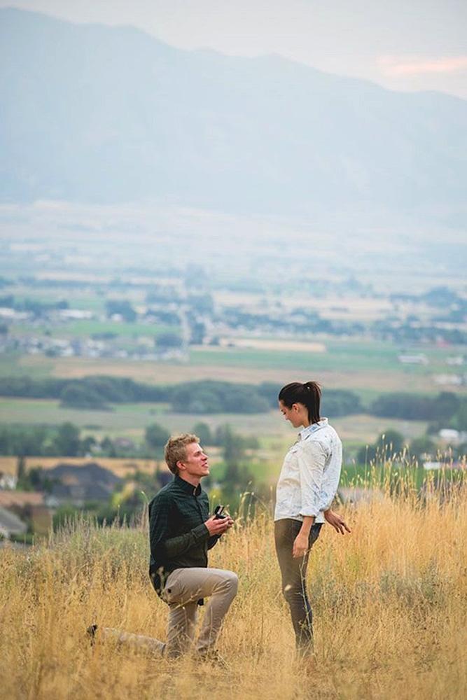 best proposals couple engagement nature
