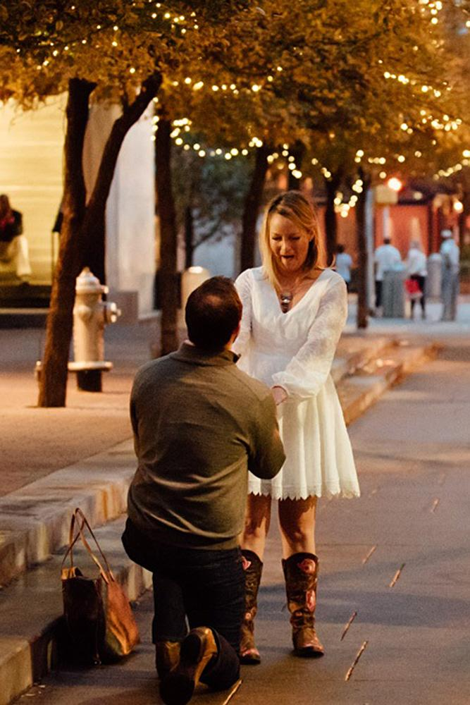 best proposals man propose the woman street
