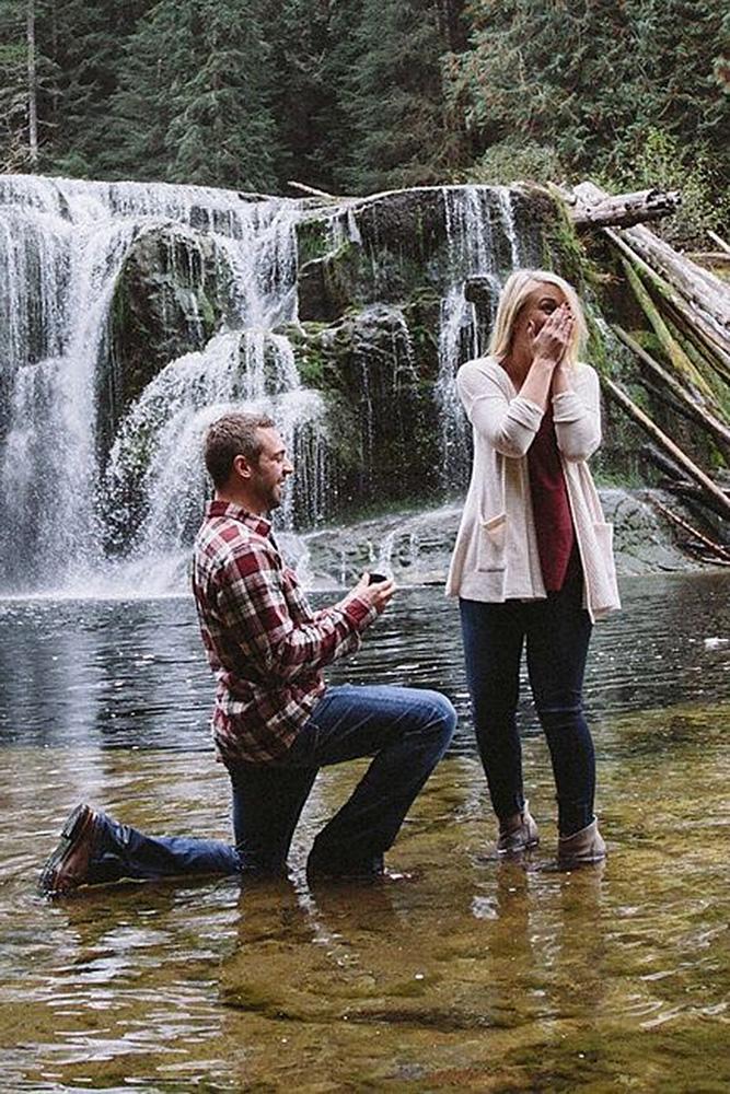 best proposals man propose woman river nature