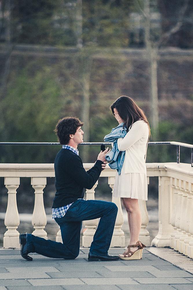 best proposals street romantic engagement