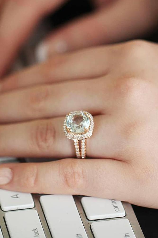 cheap engagement rings wedding set round cut pave band