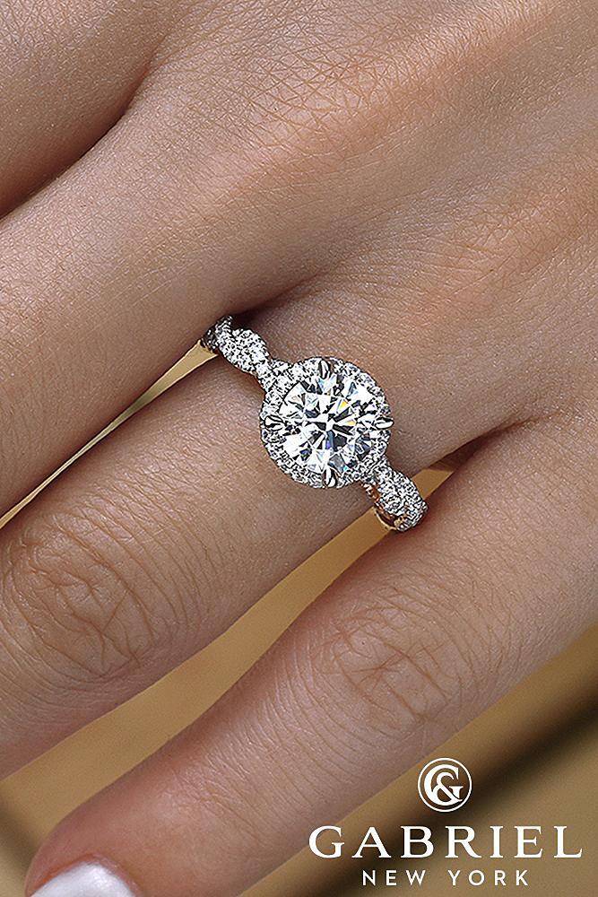 classic engagement rings soledad round blush diamond engagement rind rose white gold
