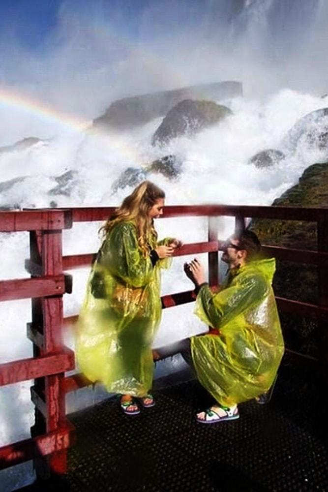 creative proposal ideas amazing proposal with waterfalls and rainbows wonderful