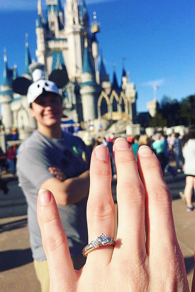 creative proposal ideas disney engagement ring