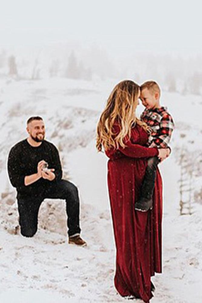creative proposal ideas surprise proposal winter