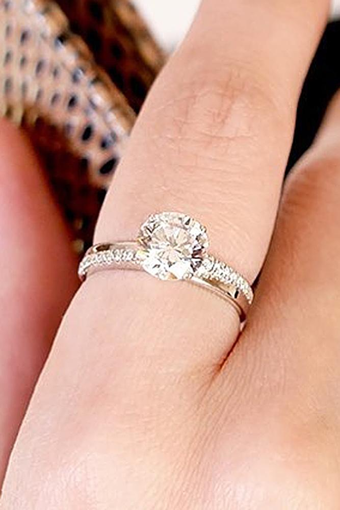 cubic zirconia engagement rings gold solitaire round cut