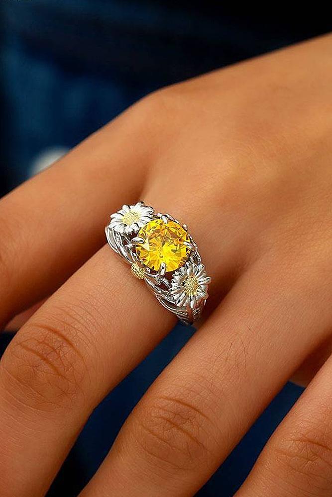 cubic zirconia engagement rings round cut unique