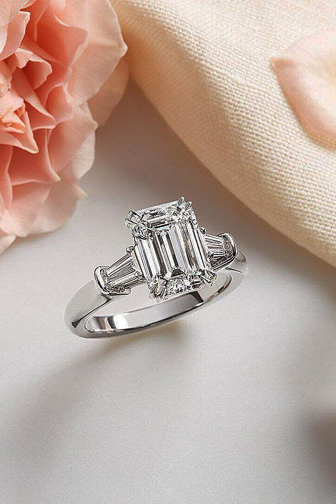 harry winston engagement rings emerald cut white gold diamond solitaire