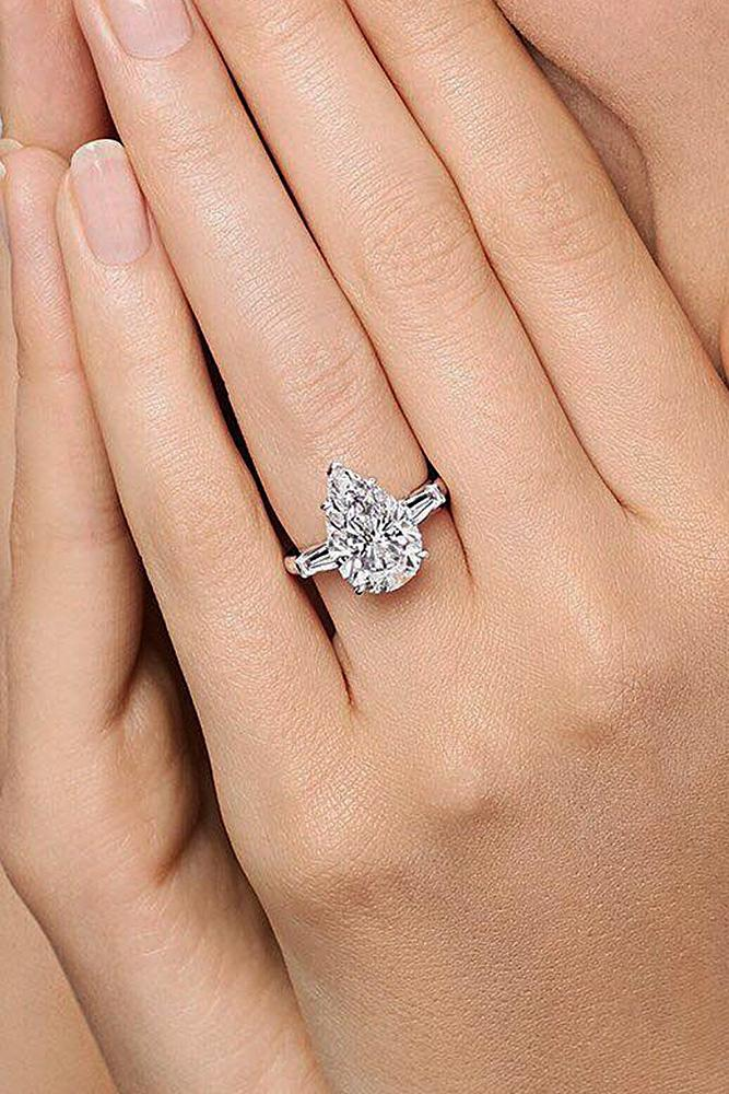 harry winston engagement rings pear cut solitaire diamond