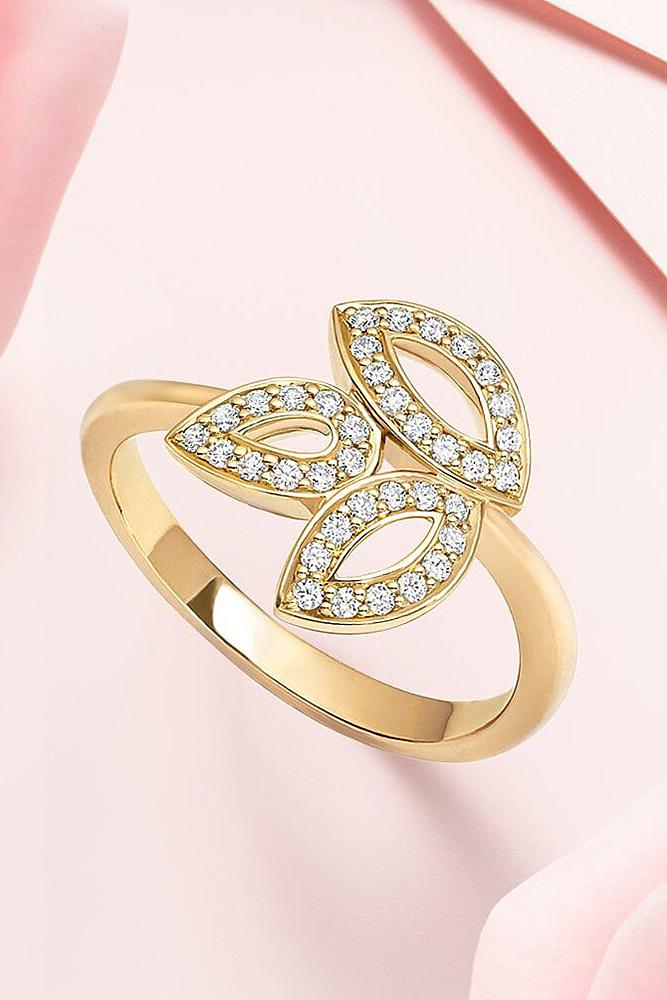 harry winston engagement rings rose gold with unique flower elements simple pave band unique