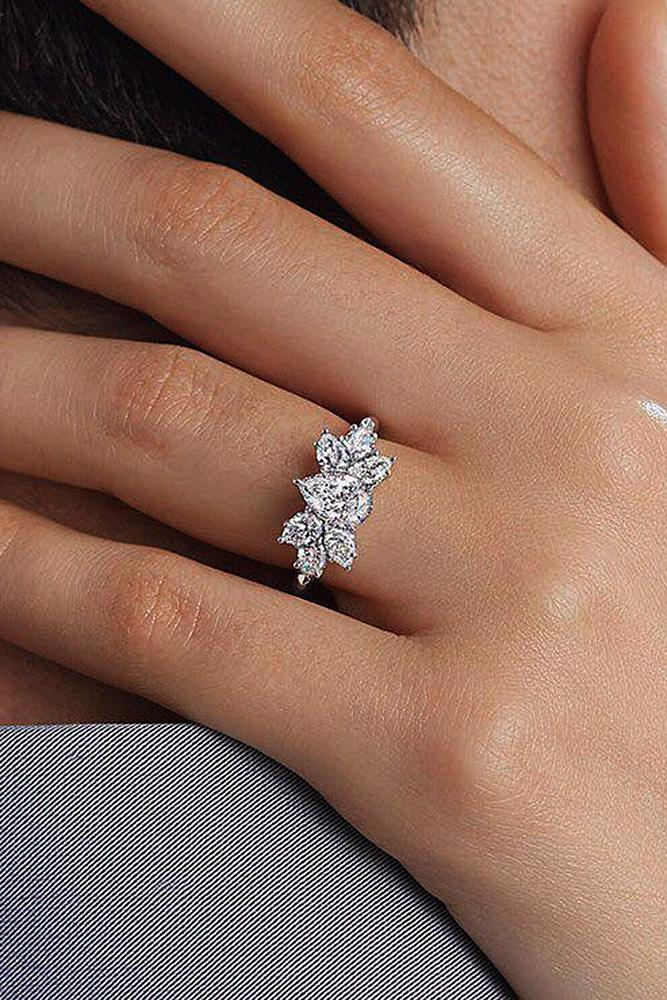 harry winston engagement rings unique white gold pear cut diamond