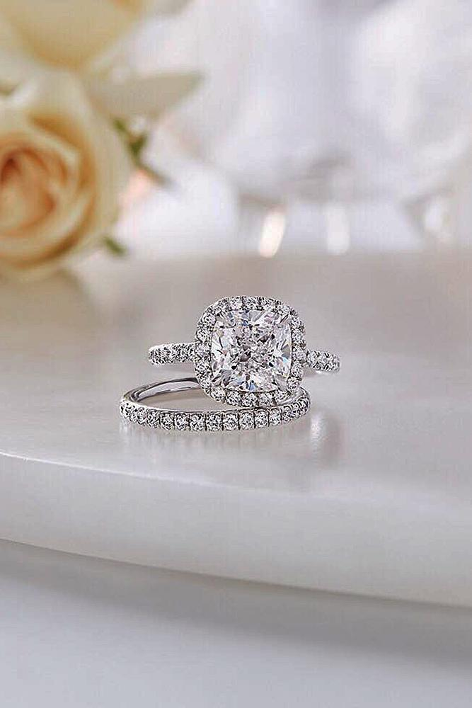 harry winston engagement rings wedding set halo pave band