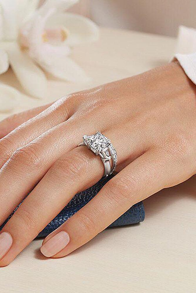 harry winston engagement rings white gold round cut wedding set - Harry Winston Wedding Rings