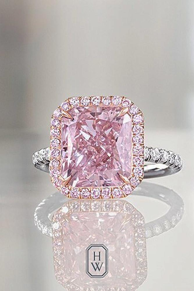 harry winston engagement rings white gold sparkling cushion cut gemstone halo simple pave band sparkling