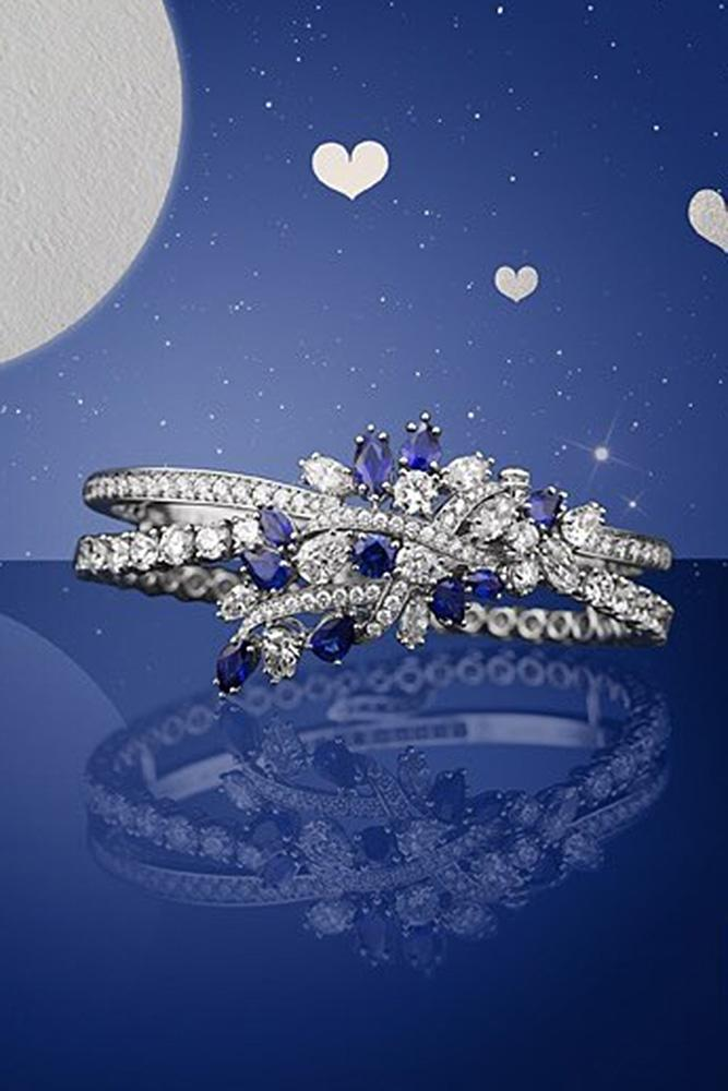 harry winston engagement rings white gold with unique flower elements gorgeous ring with sapphires twisted pave band unique