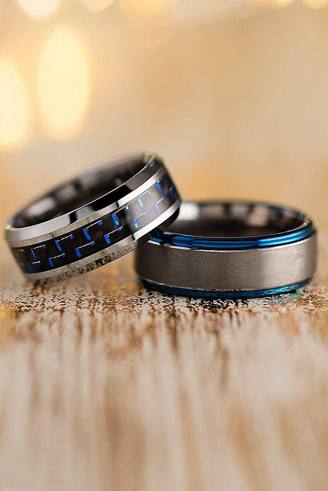 mens wedding bands tungsten mixed metals