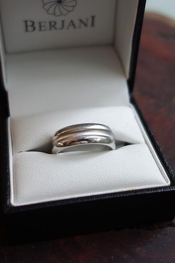 mens wedding bands white gold classic