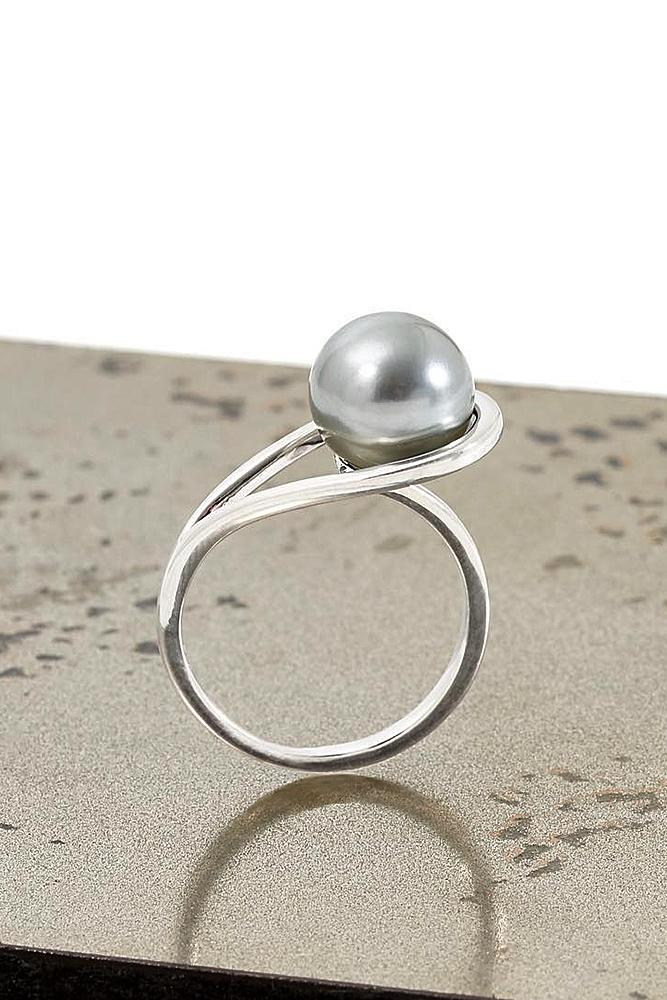 pearl engagement rings white gold unique modern