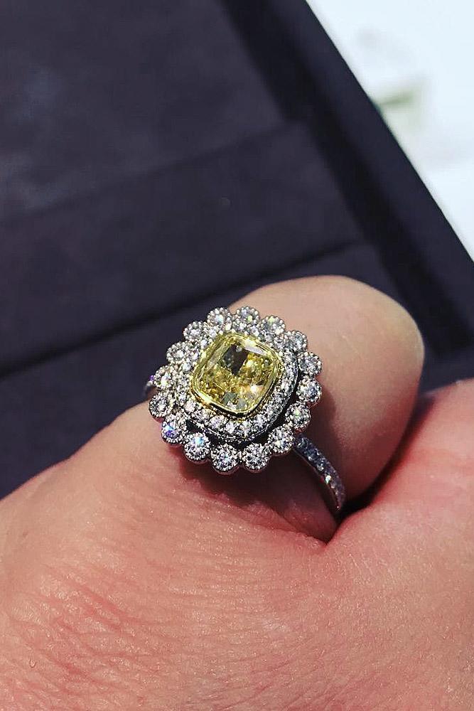 tiffany engagement rings double halo pave band gemstone