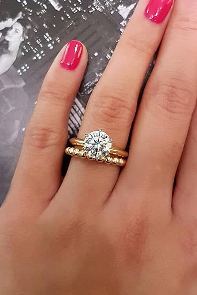 tiffany engagement rings round cut diamond rose gold wedding set