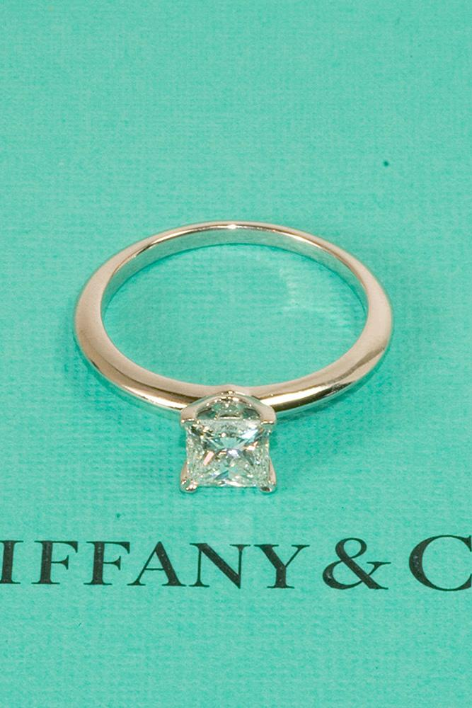 tiffany engagement rings solitaire simple princess cut
