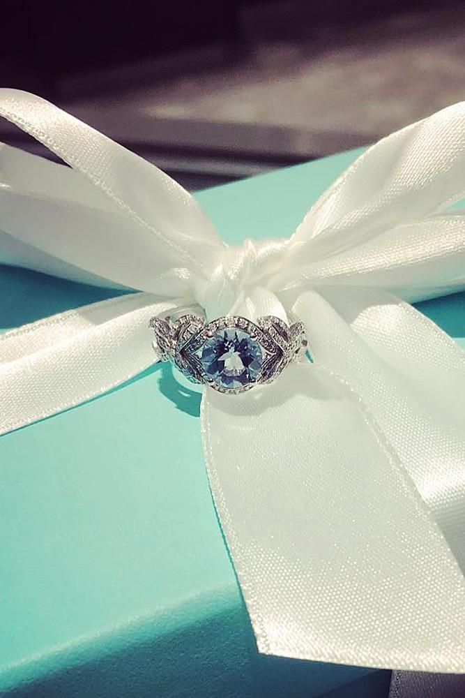tiffany engagement rings split pave band diamond round cut