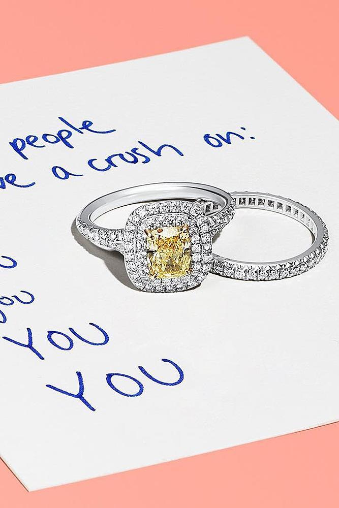 tiffany engagement rings wedding set double halo