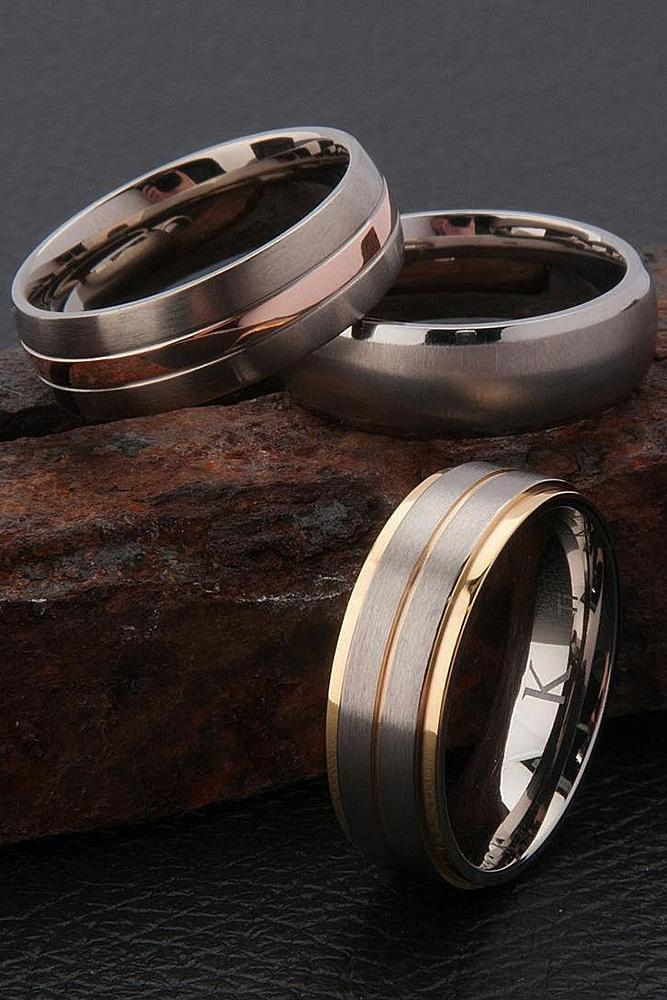 tungsten wedding bands gold nickel layers