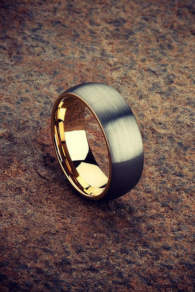 tungsten wedding bands nickel black simple