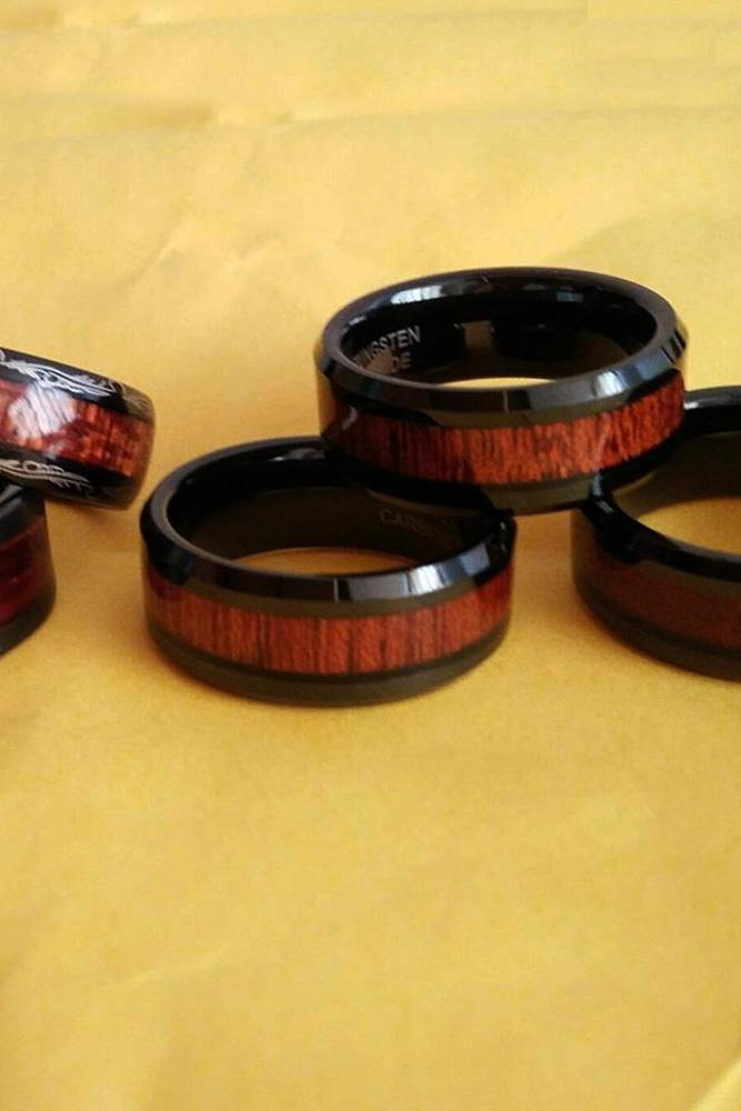tungsten wedding bands wood nickel mixed