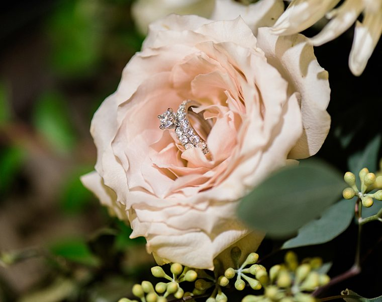 beautiful wedding ring sets pave band rose gold diamond featured