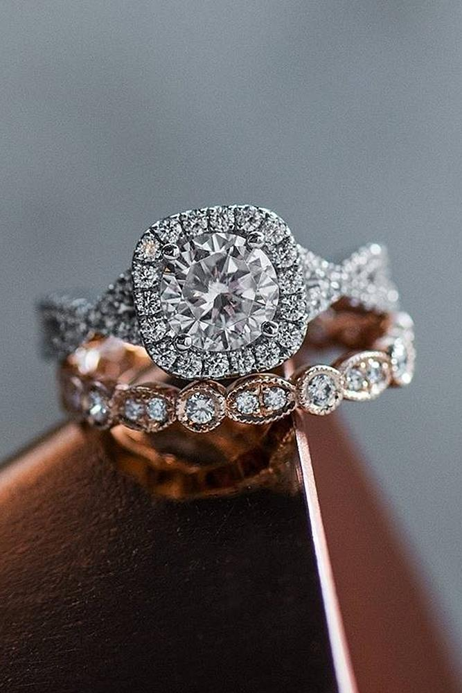 30 Beautiful Wedding Ring Sets For Your Girl | Oh So Perfect Proposal