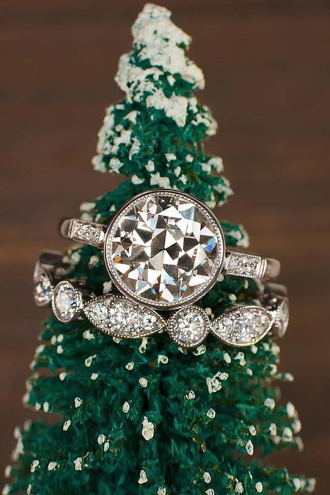 beautiful wedding ring sets white gold round cut diamond vintage
