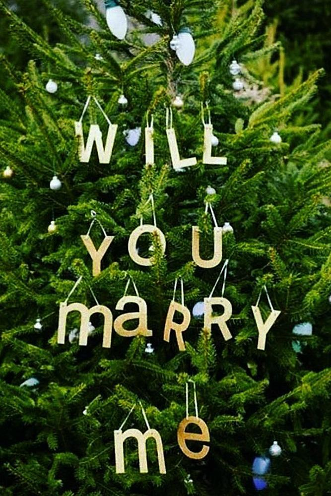 christmas proposal tree letters