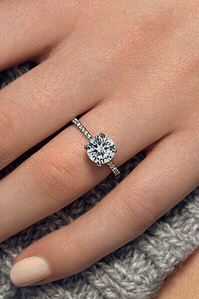 engagement ring designers gold simple round cut pave band