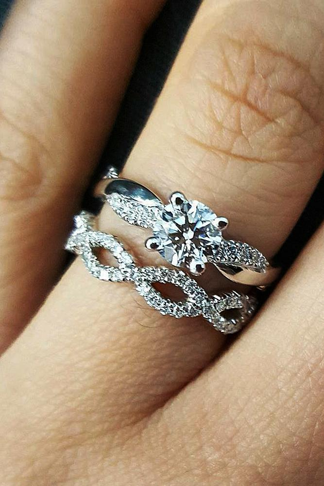 engagement ring designers wedding set round cut solitaire white gold