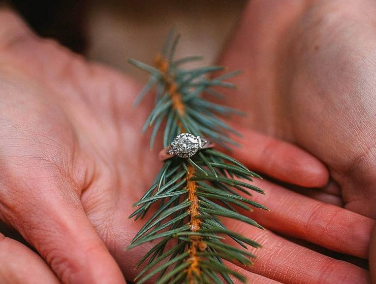 new year engagement photos ring at christmas tree hands antlersandarrowsphoto featured