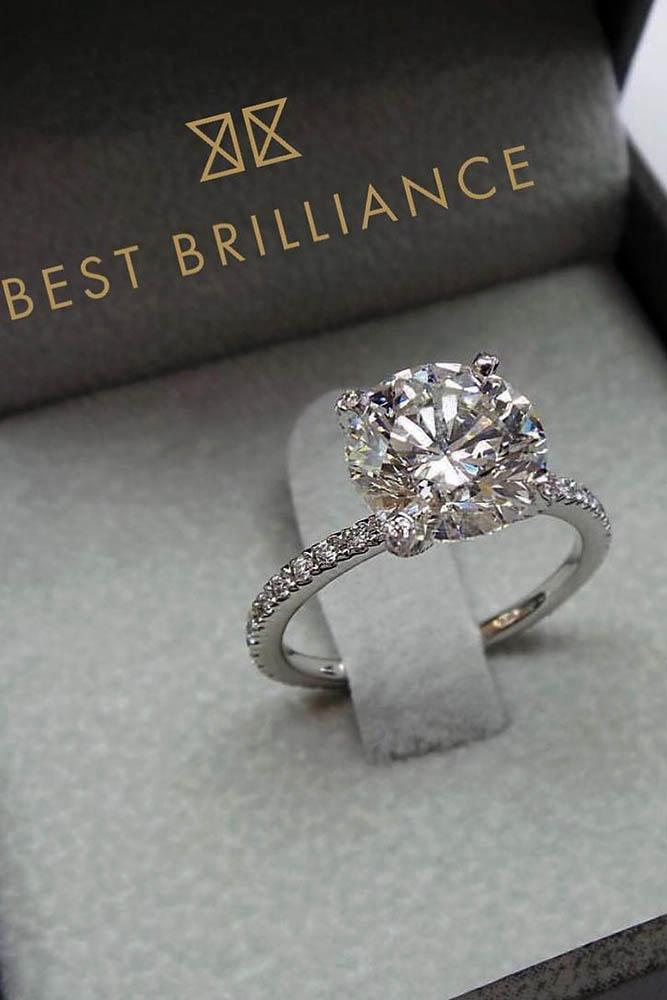 white gold diamond halo ring solitaire
