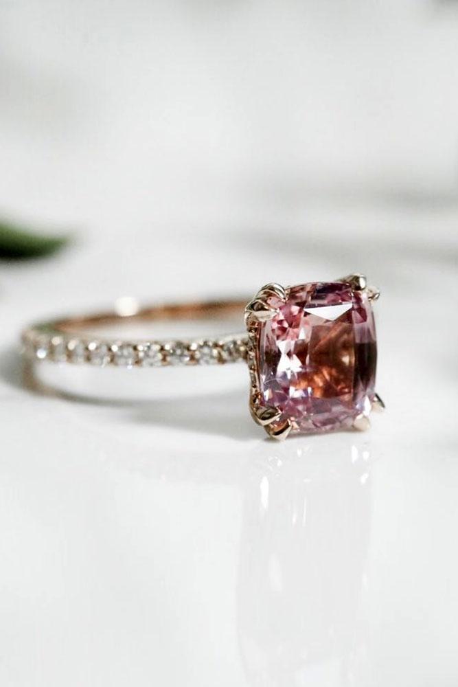 white gold ring diamond ring pink diamond
