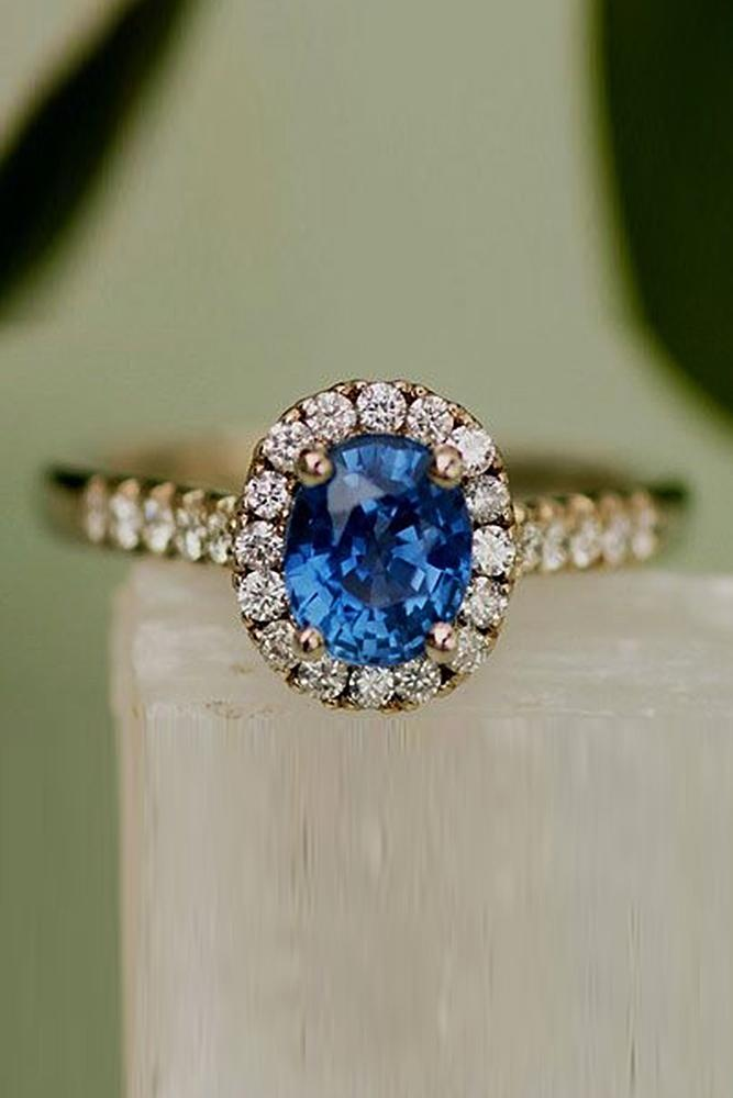 Best sapphires designers oval cut halo pave band gold