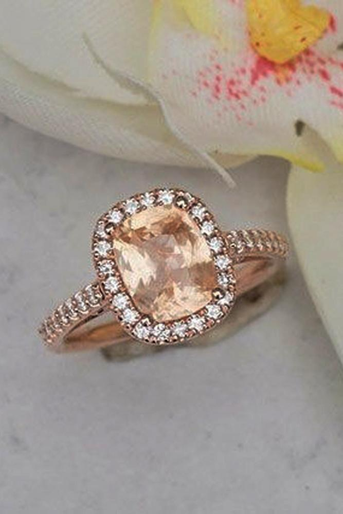 Best sapphires designers oval cut halo pave band rose gold