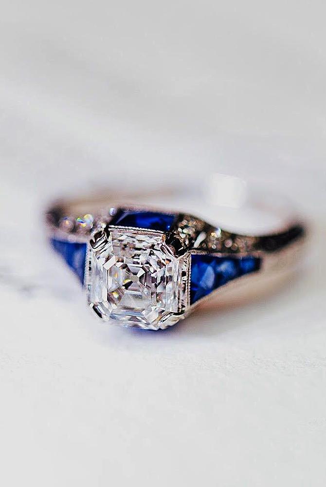 Best vintage engagement rings diamond cushion cut gold